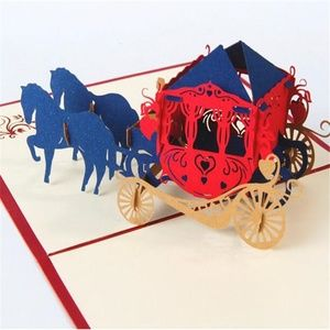 🌸 3D Horse Carriage Pop-Up Greeting Card OOAK 🌸